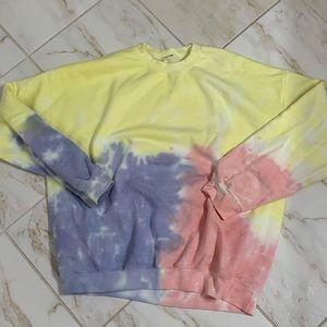 Tie Dye Oversized Crew Neck Sweatshirt